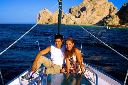 Antonio and Denise near Lover's Beach