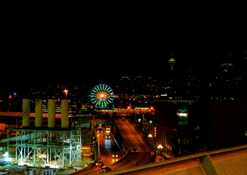 View of Needle from the Seahawks Stadium