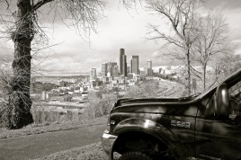 My truck and I parked at the vantage point.