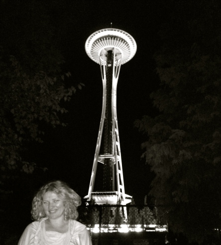 Black and White, Space Needle, Seattle