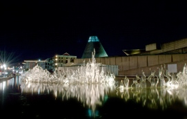 Museum of Glass reflection pond.